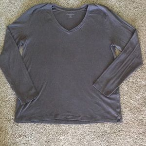Eddie Bauer Long Sleeve V-Neck Tee